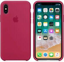 ROSE RED GENUINE ORIGINAL Apple silicon case for iPhone X