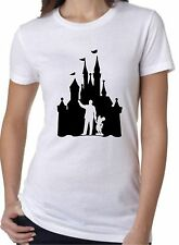 Ladies Fit T-Shirt Tee Castle Walt Mickey Cinderella Sleeping Beauty Fairytale