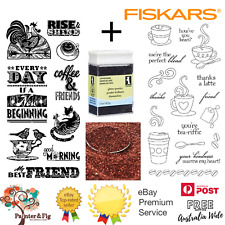 Fiskars Clear Cling STAMPS Latte Love - for Card Making & Stamping Etc