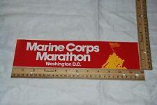 """Bumper Sticker """" Marine Crops Marathon Washington D.C. """""""
