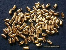 2mm Leather ends yellow gold plated thong end clasp findings 100 pcs fpc270