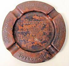 early GLENMORE DISTILLERIES Kentucky heavy copper advertising ashtray WHISKEY