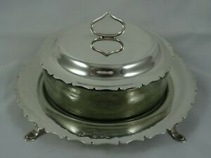 VICTORIAN sterling silver BUTTER DISH, 1899