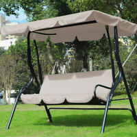 3-seater Garden Swing Chair Cover Canopy Replacement Seat Cover Waterproof