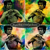 "Bruce Lee Quotes, Art Print 24""x24"" Poster As you think, so shall you become"