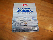 Time Global Warming Book  what you can do - the causes, the perils, the solution