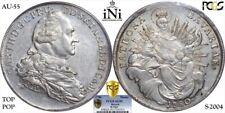 1780 Bavaria Silver Thaler - PCGS AU55 - Superb Example - Scarce Type! Top Pop!