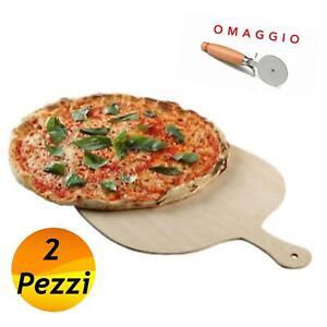 2 Pala Per Pizza Legno Di Betulla 35x46Cm Pala Tagliere C Impugnatura PIZZERIA