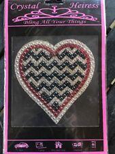 Crystal Heiress Chevron Heart Sticker Decal Car Laptop Scrapbook Locker Bling