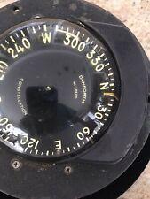 Vintage Danforth Flush Mount Marine Compass Hi-Speed Constellation W/Light