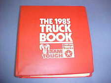 1985 DODGE D W 100 250 350 PICKUP TRUCK DATA BOOK DEALER ALBUM UPHOLSTERY 85 OEM