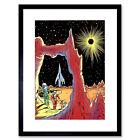 Surreal Fantasy Sci Fi Alien Planet Rocket Ship Space Framed Wall Art Print
