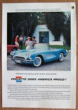 MAGAZINE AD ~ 1958 CORVETTE ~ SPORTS ILLUSTRATED ~ APRIL 1958