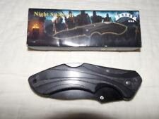 """Night Stalker Ii 4 1/2"""" Folding Lockback Thumb Stud Black Ss Blade Black Handle"""