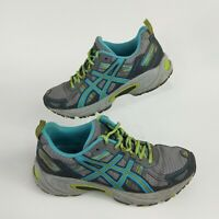 ASICS Gel-Venture 5 T5N8N Women's US 7.5 Athletic Running Shoes Grey Green Blue