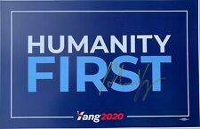 ANDREW YANG SIGNED AUTOGRAPHED HUMANITY FIRST CAMPAIGN SIGN POSTER 2020 COA