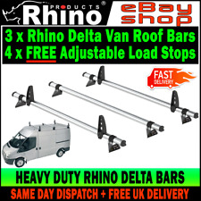 MWB+LWB=MED ROOF 3 x Ford Transit Roof Rack Bars Van Rhino Delta Bars 2000-2014
