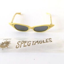 â• 60s Vintage Santo Spectacles Yellow sunglasses : space age cat eyes alien rave