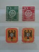WEST BERLIN GERMANY 1956 ENGINEERS UNION 2v & COUNCIL MEETING 2v VFU SGB147/150