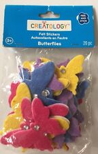 FELT BUTTERFLY Stickers(20pc) Creatology•Garden•Rhinestone•Blue•Pink •Yellow•Bug