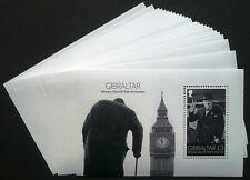 25 x Gibraltar 2015 Block 119 ** MNH Winston Churchill Michel 220,-- € Engros
