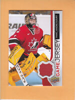 2014 15 UPPER DECK GAME JERSEY #GJ-MF MARC ANDRE FLEURY TEAM CANADA