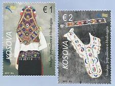 Kosovo 2017 Michel Nr. 399-400 Trachten Frauentracht aus Medveđa Trachtenbluse