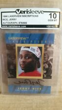 1996 Pinnacle Laserview Inscriptions /900 Autographed Jerry Rice 49ers GEM MT !