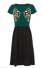 Knee Length Polyester Short Sleeve Tea Dresses for Women