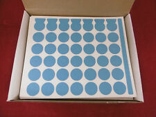 ca. 100 Blatt-Haftetiketten Blau 19mm Kreis NEU OVP