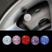 4X Shining Diamond Rhinestone Car Wheel Tire Valve Stem Air Caps For All Vehicle