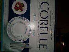 Ocean Blue 16 Pc. Dinnerware Set Lightweight Porcelain Tableware Dishwasher Safe