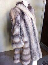 Crystal Fox Silver Fox Fur Coat Size M Medium Long Flared Mint