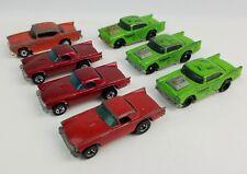 Lot 7 vintage Hot Wheels '57 Ford T-Bird & Chevy Alligator Red Enamel 1981 1993