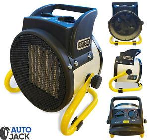 Autojack 2KW Ceramic Fan Heater Space Air Warmer Electric Workshop Garage 240v