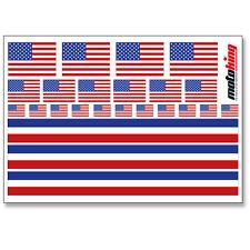 USA AUFKLEBER |  FLAGGEN STICKER | HELM FAHRRAD MODELLBAU BOBBYCAR AUTO MOTORRAD