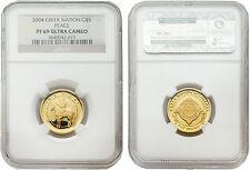 Creek Nation 2004 $5 Peace 1/5 oz Gold Coin NGC PF 69 ULTRA CAMEO