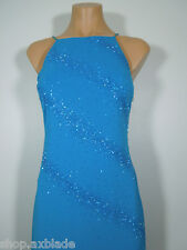DE LARU by Sheila Yen Formal Gown Beads Embellished Long Dress size 5-6