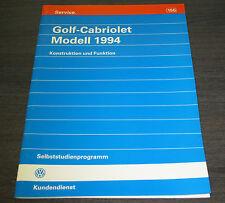 VW Golf 3 III Cabriolet  Selbststudienprogramm  SSP 155  Stand   08/1993