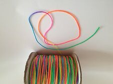 7M Rainbow / Neon Braided nylon Cord Thread 1mm great for Shamballa or Kumihimo