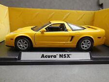 Motormax Acura NSX Yellow 1/18 Diecast Model - Premier Collection