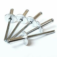 3.2mm 4mm 4.8mm Extra Large Flange Head Pop Rivets Aluminium / Steel Open Blind