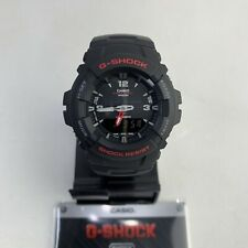 Casio G100-1B Men's G-Shock Ana-Digital Watch Dual Time Black Resin Alarm New