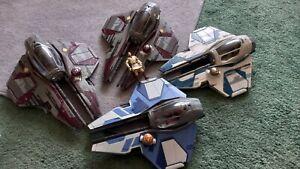 Star Wars Aayla Secura ObiWan Jedi Starfighter Space Ship Hasbro job lot