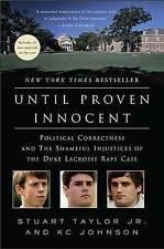 Until Proven Innocent, Good Condition Book, Taylor, Stuart, ISBN 9780312384869