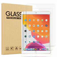 For iPad 10.2 inch 2019 7th Gen Clear Tempered Glass Screen Protector Cover