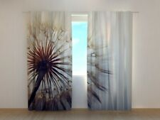 3D Lux Photo Curtain Printed Amazing Dandelion image Wellmira Made to Measure