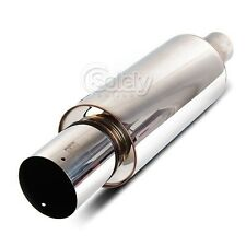 Hi-Power 409 Stainless Steel Muffler Exhaust Pipe Inspired by HKS (Deep Growl)