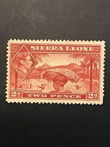 Sierra Leone 1938 KGVI 2d Rice Harvest Superb  - MINT not hinged