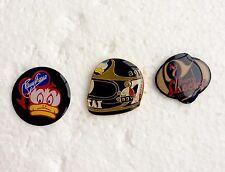 Barry Sheene Pin Badges, Roberts, Hailwood, Dunlop, Rossi, Mamola, Read, Manx TT
